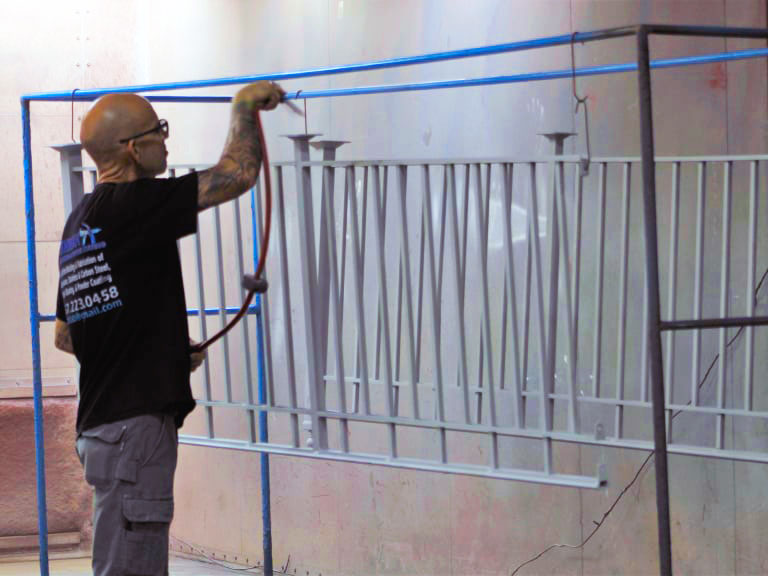 Residential fabrication and powder coating - Dishman